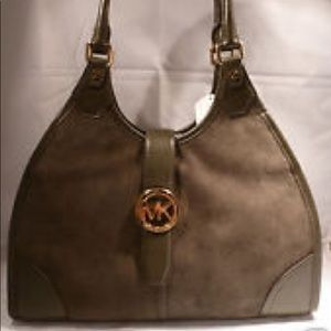 MICHAEL KORS Large HUDSON Shoulder Tote
